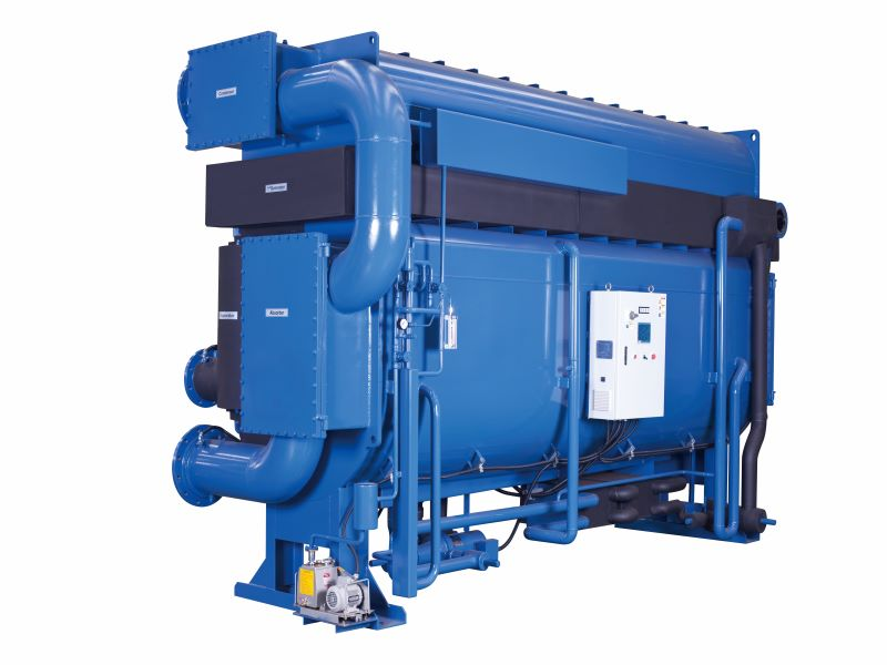 Single Effect Low Temperature Hot Water Driven Absorption Chiller